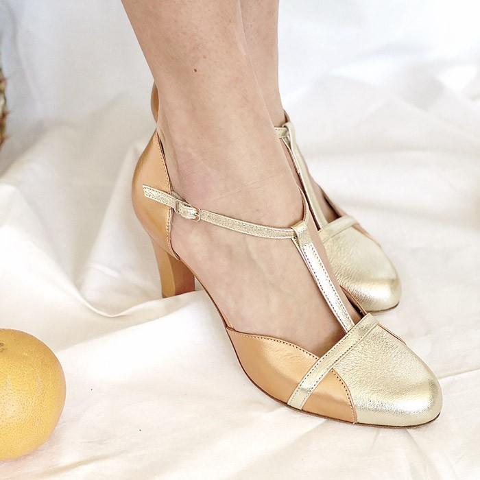 scarpetta-di-venere-scarpe-artigianali-sposa-Azzurra-oro-rame-4b7